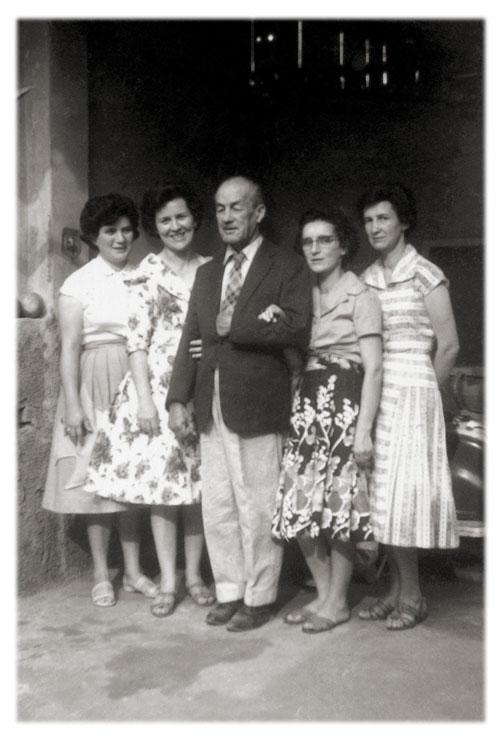 Antonio de Almeida Prado (Antoninho Maria) e filhas Miriam, Aurora, Jacy e Maria Júlia