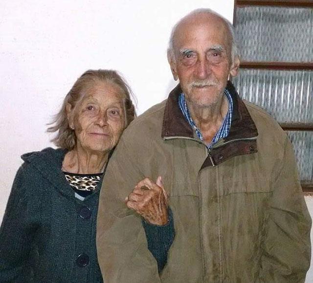 Calvino de Matos e esposa
